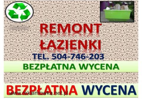 Remont łazienki, te.504-746-203,lokalu, Oleśnica, Dobrzykowice, Nadolice, Chrząstawa. Oława.Czernica