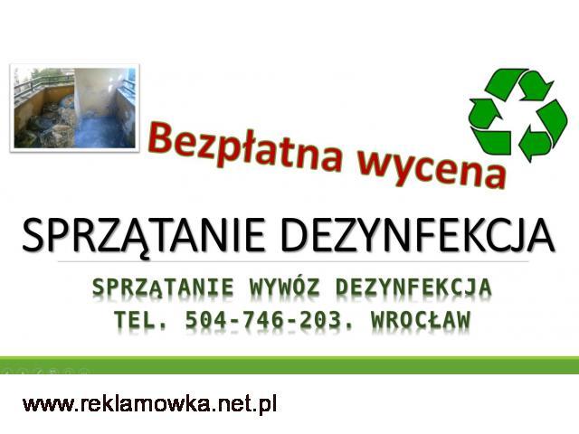 Dezynfekcja pomieszczeń, cennik tel. 504-746-203. usługi, Wrocław, sprzątanie  dezynfekcja po awarii