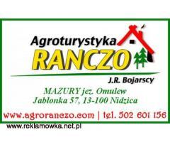 Agroturystyka RANCZO w Jabłonce k/ Nidzicy nad jeziorem Omulew, las