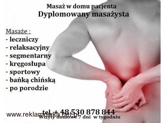 Masaż leczniczy w Domu z Dojazdem Wola 530 878 844 - 1/1