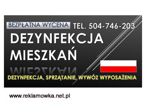 Dezynfekcja mieszkania po zmarłym. Cennik, tel. 504-746-203. Wrocław. Firma sprzątająca po zgonie.
