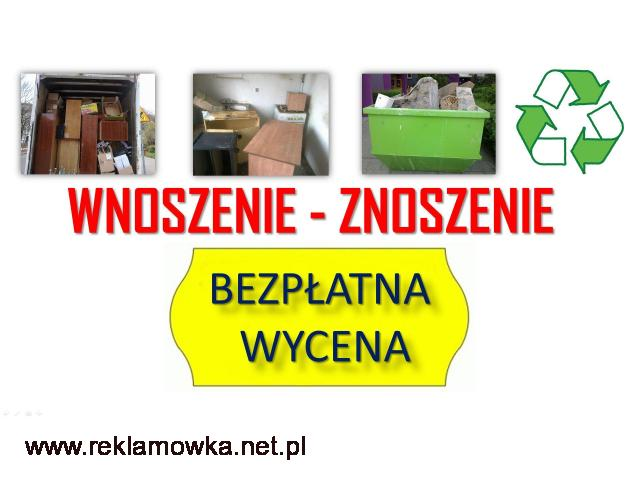 Usługi, wnoszenie cennik, tel. 504-746-203. Wrocław, wniesienie mebli, materiałów budowlanych, cena - 1/2