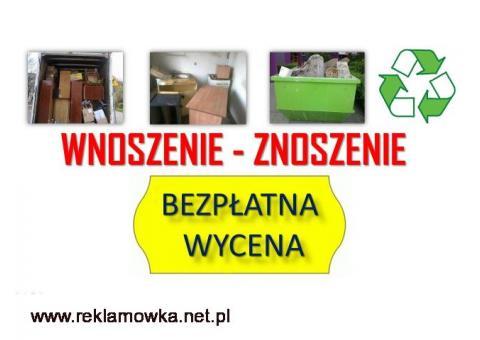 Usługi, wnoszenie cennik, tel. 504-746-203. Wrocław, wniesienie mebli, materiałów budowlanych, cena