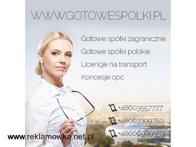 Gotowe Spółki Polskie , Wrocław, Katowice ,Gdańsk
