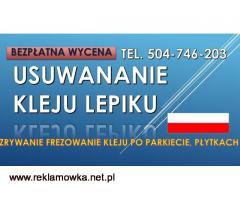 Usuwanie kleju z posadzki, cena. tel, 504-746-203. Lepik,subit, z podłogi. Wrocław