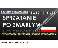 Dezynfekcja miejsca zgonu, cena, tel. 504-746-203, sprzątanie po śmierci, Wrocław
