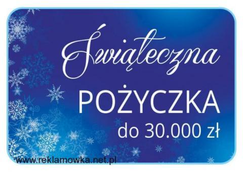 Lekka POŻYCZKA na świąteczne szaleństwo do 30.000 zł