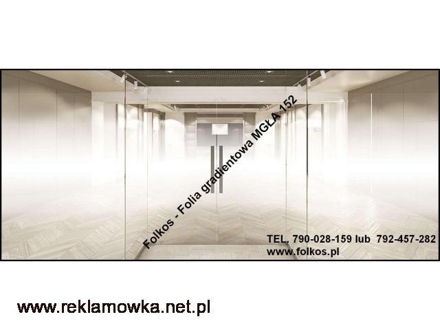Folie gradientowe do dekoracji szyb -Folie sprzedaż -Mgła152, Perła152,Białe kwiaty92 - 2/2