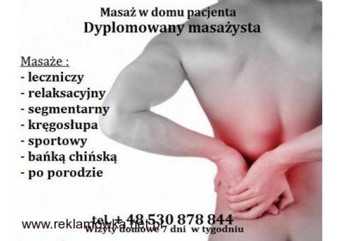 Masaż kręgosłupa Białołęka - (wizyty domowe)