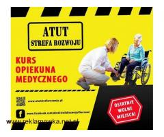 Kurs opiekuna Medycznego w ATUT Strefa Rozwoju !