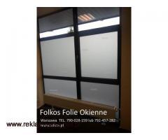 Folie matowe do sklepów-Oklejanie witryn sklepowych Warszawa i okolice Folkos