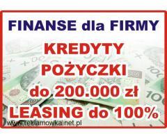 Usługi finansowe dla firm - pożyczki, kredyty, leasing