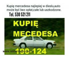 Szukam mercedes w201 190  /124 może być bez opłat,całe lub uszkodzone najlepiej diesel