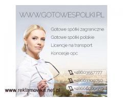 Gotowa Spółka Akcyjna , Gotowe Fundacje Tel.603557777