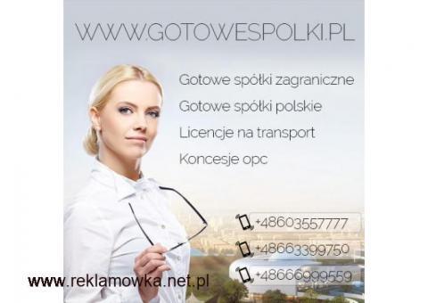 Gotowa Spółka Transportowa z Licencją na Spedycje i Transport