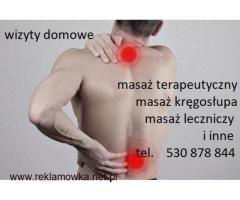 Masaż leczniczy ,kręgosłupa Piastów ,Pruszków  - Wizyty Domowe