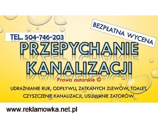 Czyszczenie rur spiralą, tel, 504-746-203, Wrocław, przepychanie sprężyną, cena