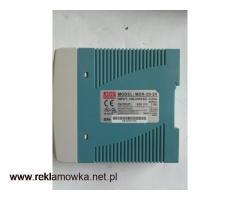 Zasilacz: impulsowy MDR-20-24 24W; 24VDC; 1A