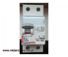 Wyłącznik różnicowo prądowy 100mA ; typ AC ; 25A ; 2P ;230V~ ; Legrand