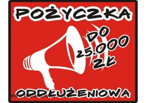 POŻYCZKA na spłatę zobowiązań do 25.000 zł