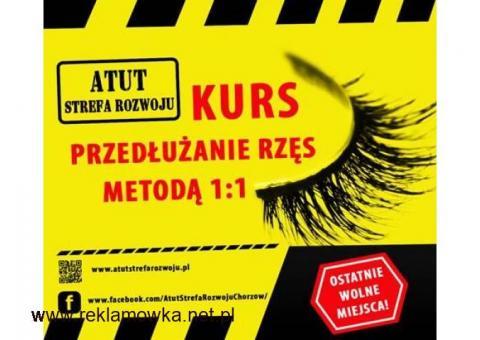 Kurs kosmetyczny przedłużanie rzęs metodą 1:1 w ATUT Strefa Rozwoju Chorzów !