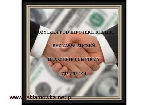 POZABANKOWE FINANSOWANIE  POD HIPOTEKE/ODDLUZENIA/REFINANSE