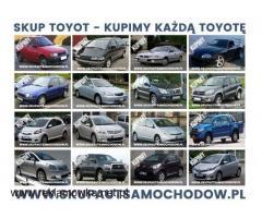 skup toyot/ toyota kupię/ kupie toyote Corolla Carina Avensis Camry Starlet Picnic Dyna
