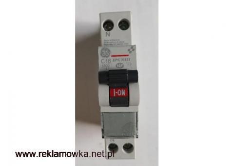 Wyłącznik nadrpądowy C16 ; Unibis , EPC N451 , 230V~ , GE General Electric