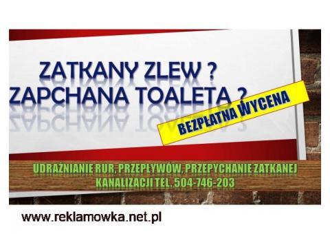 Przepychanie toalet, cena, tel. 504-746-203,Wrocław. Udrażnianie odpływu