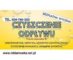 Przepychanie rur, cennik, tel, 504-746-203, pogotowie kanalizacyjne, Wrocław