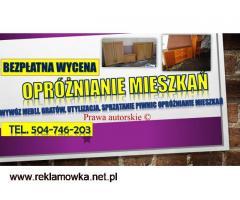 Opróżnienie mieszkania cena tel. 504-746-203, likwidacja,  Wrocław
