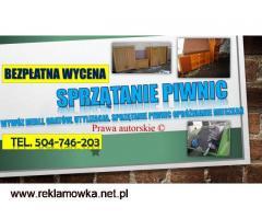 Sprzątanie piwnic Wrocław, cennik tel. 504-746-203. Wywóz gratów