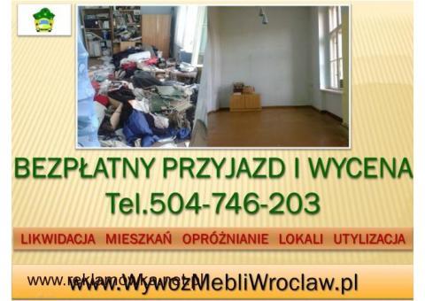 Wywóz mebli, cena, tel. 504-746-203, Wrocław, odbiór starych mebli., utylizacja, używanych,rzeczy