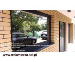 Folia lustro weneckie- do mieszkań na parterze -Oklejanie szyb Warszawa i okolice