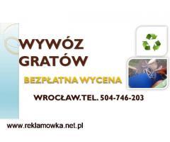 Opróżnianie mieszkań,domów,lokali,pomieszczeń,cennik, tel. 504-746-203, Wrocław
