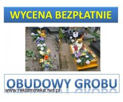 Skrzynka na grób, cena z montażem tel. 504-746-203. Obudowa grobu. Wrocław