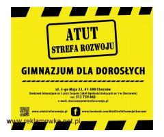 ATUT-Gimnazjum dla Dorosłych w Chorzowie - bezpłatna nauka !